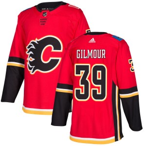 Doug Gilmour Men's Adidas Calgary Flames Authentic Red Jersey